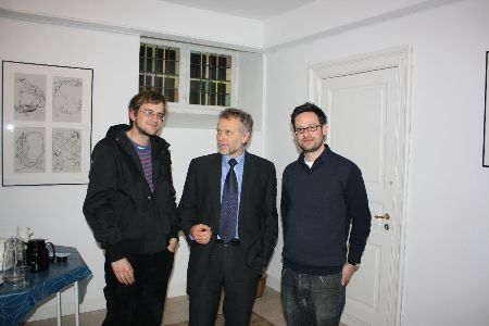 From the left: Screenwriter Tom Bojar, Czech Ambassador Zdenk Lyka and director Pavel Abrahm