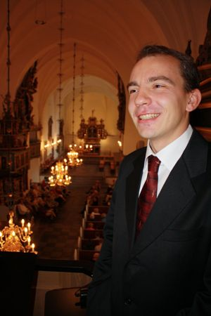 Pavel Kohout in the cathedral