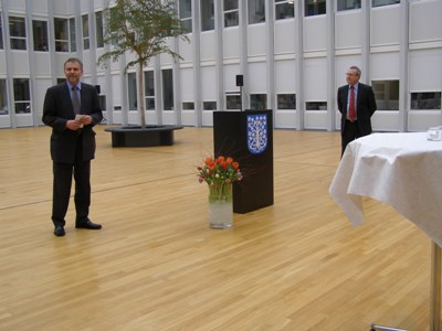 The Mayor of Esbjerg, Mr. Johnny Søtrup and Ambassador Zdeněk Lyčka