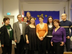 Petra Hůlová with Czech students and Czech ex-patriates