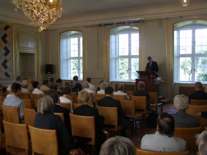 Audience in a lecture of the Czech Minister