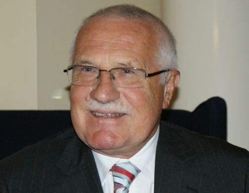 Prezident Vaclav Klaus in London 2010