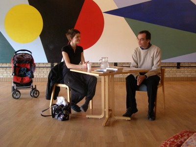 Petra Hůlová and translator Peter Bugge at Aarhus University
