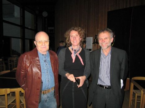 From the right: Czech Ambassador Zdeněk Lyčka, Professor Alice de Champfleury and film historian Ulrich Breunning