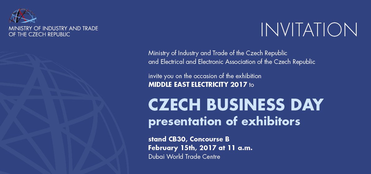 Exhibition Stand Invitation : Invitation to visit the czech stand on middle east