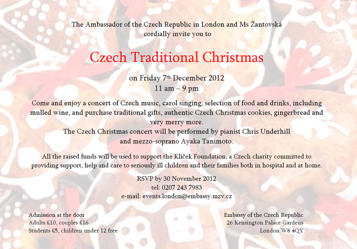 Traditional Christmas at the Czech Embassy in London ...