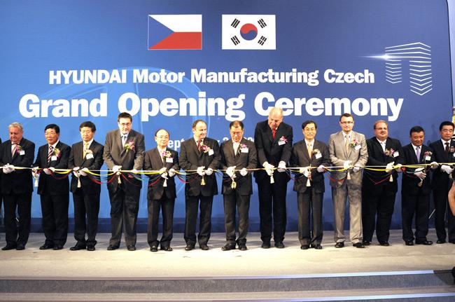 No ovice grand opening of hyundai car plant in the czech republic