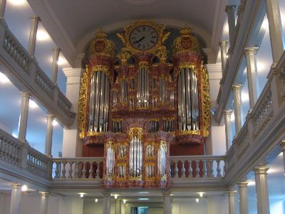 Baroque organ in the Garnisons Church in Copenhagen