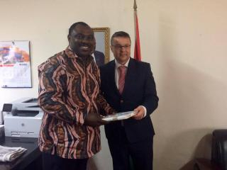 Náměstek Tlapa s ghanským náměstkem ministra průmyslu a obchodu