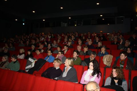 The guests filled up the large screening hall of the Cinemateket