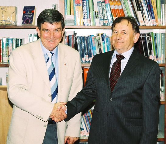 Ambassador Zantovsky and Julian Wilde, KEQMS