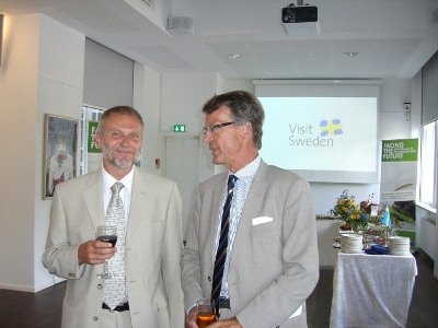 The Czech Ambassador Zdeněk Lyčka (left) and The Swedish Ambassador Lars Grundberg