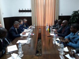 Jednání náměstka ministra obrany Tomáše Kuchty s mosambickým náměstkem ministra národní obrany Patríciem Josém