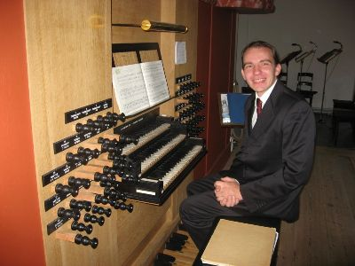 Pavel Kohout at the organ