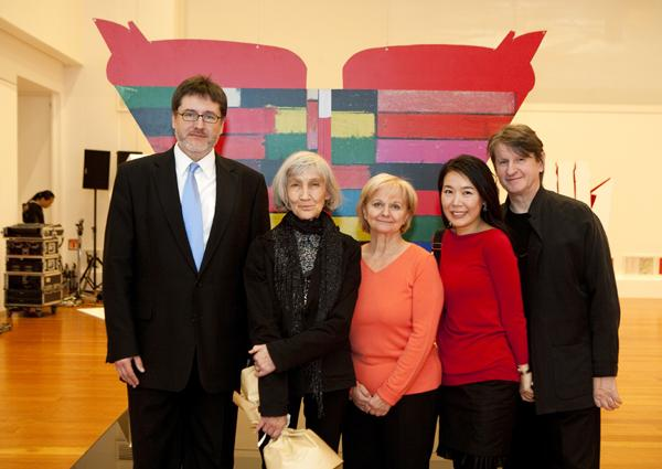 Photo:Czech Ambassador Jaroslav Olša, jr. with Graphic artist Květa