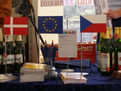 Czech flags and Czech beer