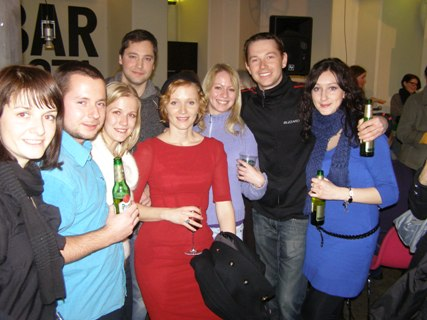 Actress Anna Geislerová with Czech students and expatriots