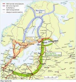 Rail Baltica mapa