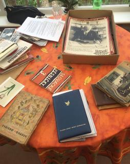 Part of the donated materials, books and photographs