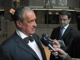 Minister Schwarzenberg after GAERC session