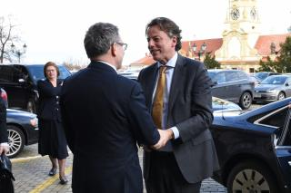 Ministr Lubomír Zaorálek s ministrem zahraničních věcí Nizozemského království Bertem Koendersem
