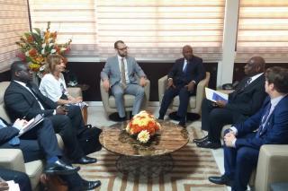 Setkání s ministrem vnitra Pobřeží Slonoviny