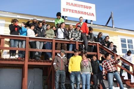 Studerende fra Maniitsup Efterskolia