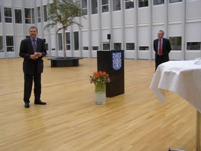 Borgmester Johnny Søtrup og Ambassadør Zdeněk Lyčka