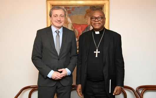 Minister Stropnický Met with Nigeria's Cardinal Onaiyekan, Archbishop of Abuja