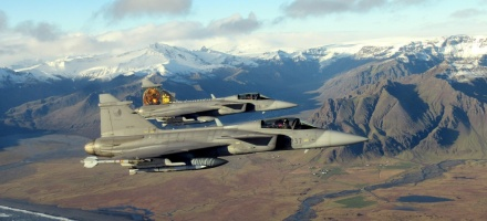 Czech Gripen on an Air Policing Mission