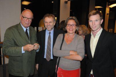 Fra venstre: Journalisten Niels Barfoed, den tjekkiske ambassadør Zdeněk Lyčka, journalisten og forfatterinden Martina Schepelern og instruktøren Christoffer Emil Bruun. Foto: Hasse Ferrold