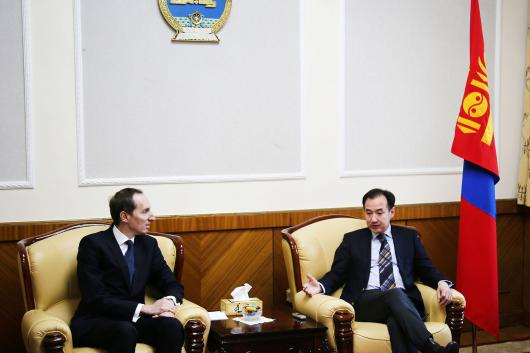 The Ambassador met with the Mongolian Foreign Minister