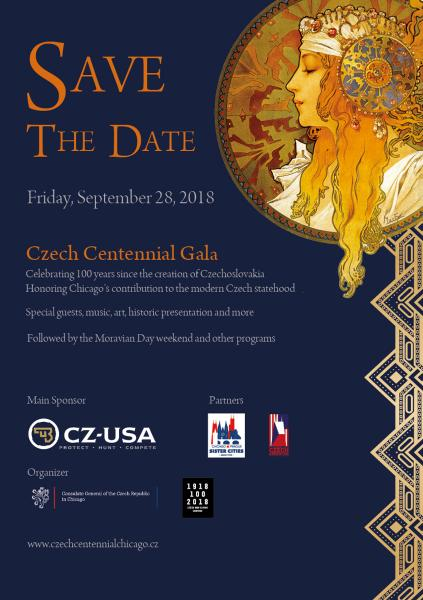 czech cetennial gala chicago save the date consulate general of