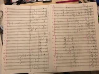 Illustration 4: the final full orchestral score for the same passage.
