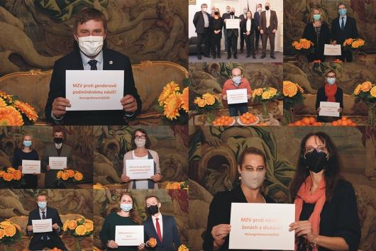 "Together to combat violence against women. The Ministry of Foreign Affairs joins ""Orange the World!"""