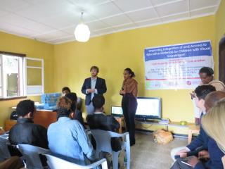 Handover ceremony at the school in Bishoftu.