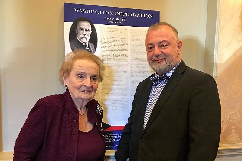 100 let Washingtonské deklarace  Konference s Madeleine Albright.  m albright w amb kmonicek 727fbe8371