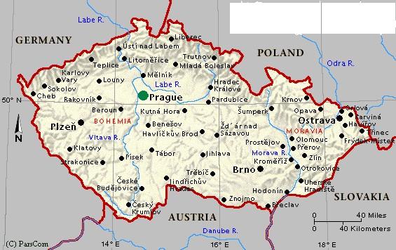 Republique Tcheque Carte Europe.Informations De Base Ambassade De La Republique Tcheque A
