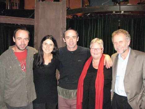 Fra venstre: Skuespilleren Matěj Forman, festivalens kunstneriske leder Ulla Dengsøe, skuespilleren Petr Forman, Harriet Ludvigsen og den tjekkiske ambassadør Zdeněk Lyčka