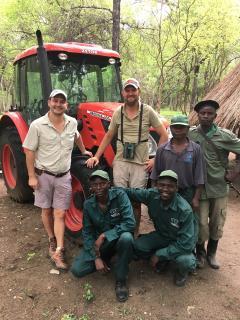 Zetor v přírodní rezervaci v Zambii