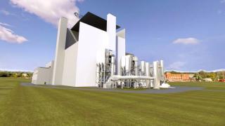 Vizualizace kogenerační elektrárny ve Vilniusu