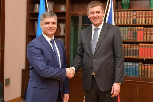 Foreign ministers of the Czech Republic and Ukraine met in Prague