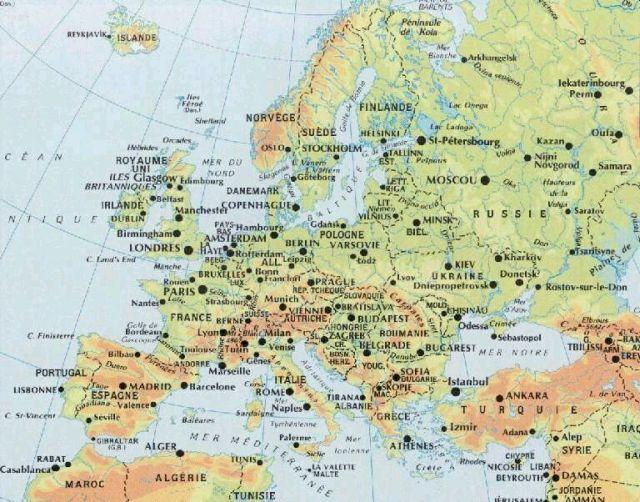 Cartina Geografica Europa Ovest.Informazioni Generali Ambasciata Della Repubblica Ceca