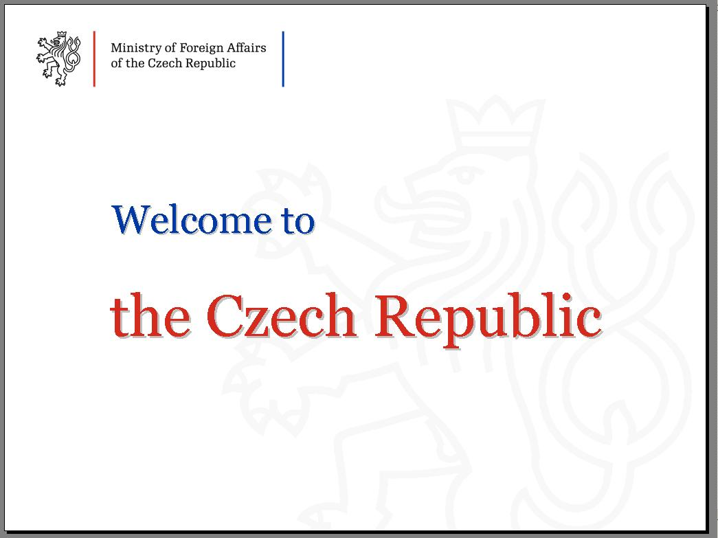 Welcome to the Czech Republic široké okraje