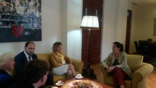 Meeting with the Minister Kumbaro