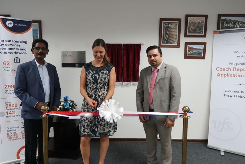 Cooperation with visa outsourcing company VFS Global in Botswana has