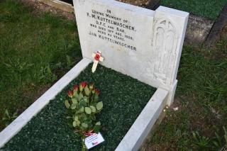 The grave of Flight Lt. Karel Kuttelwascher