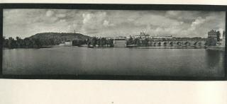 Illustration 1: a page from Sudek's Praha Panoramatická, showing the Charles Bridge, the Castle and St Vitus Cathedral