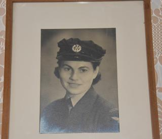 Mrs Anděla Haida while working at the WAAF