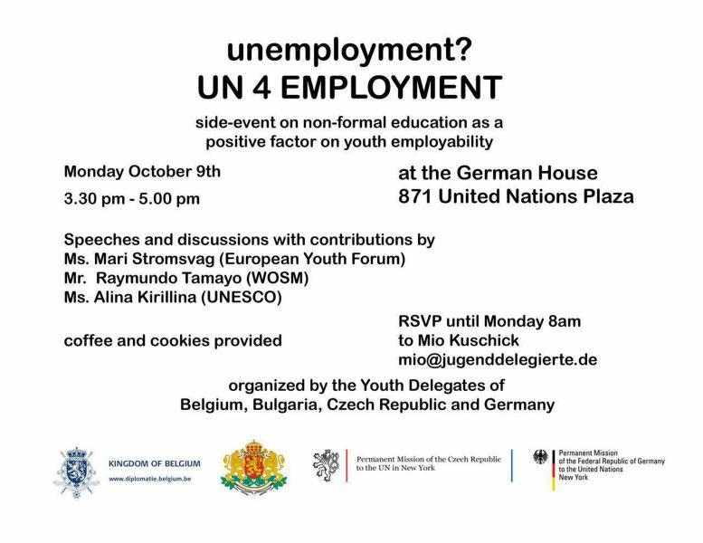 Un4employment side event organized by youth delegates permanent un4employment invitation stopboris Gallery